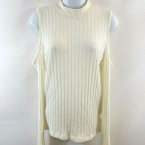 American Eagle Cold Shoulder Ribbed Knit Sweater